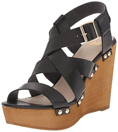 Fergalicious Dames Libby Wedge Sandaal Zwart