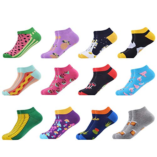 WeciBor Men's Colorful Funny Pattern Dress Summer Casual Ankle Socks (B052-27)
