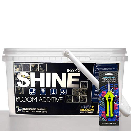 (5 lbs Shine by Veg + Bloom- A Hydroponic Powder That Enhances The Bloom Stage of Plant Growth. Add to Reservoir During to Maximize Crop Production | Common Culture Trimming Scissors Included)