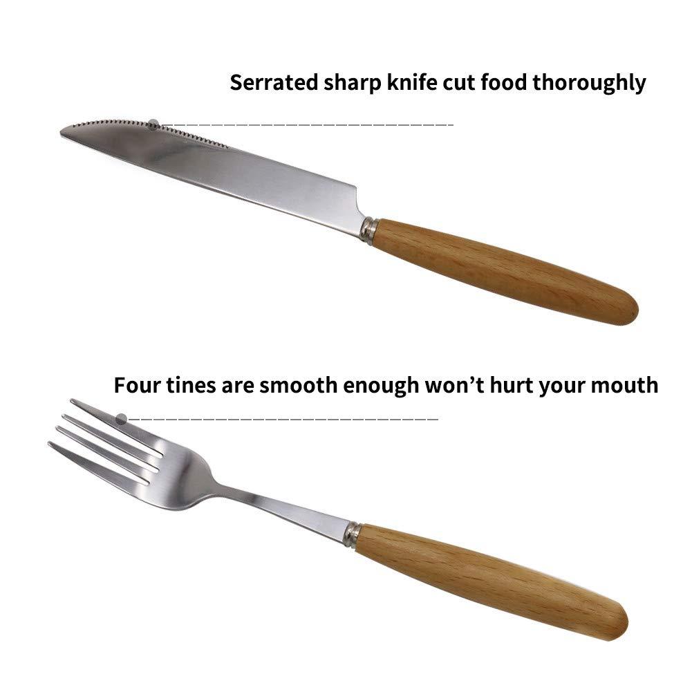 Amazon.com: Juego de utensilios planos portátiles, cuchara y ...