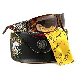 Ed Hardy Live To Ride EHS 044 Gradient Sunglasses, Brown