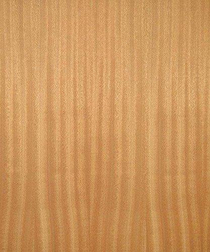 Mahogany Wood Veneer, Ribbon Stripe, Premium Grade, 4'x8' PSA Adhesive Back