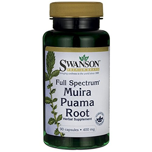 Root Muira Puama (Swanson Muira Puama Root Sexual Health Virility Libido Boost Support Men's Women's Supplement 400 mg 90 Capsules)
