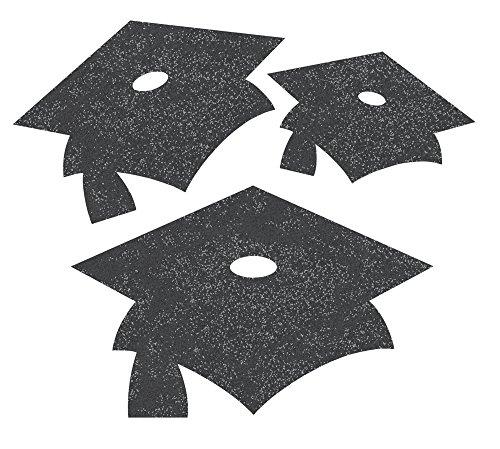 Creative Converting 991199 Graduation Cap Cutouts, One Size, - Grad Cut Out Cap