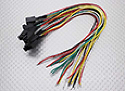 SKB family Molex 5 Pin Cable Male Connector with 230mm x 26AWG Wire 5pc