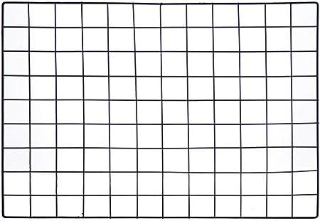 ShouYu DIY Rejilla Foto Pared,Pared Parrilla,Ins cuadrícula Panel, multifunción Estantería Grid Wall,Decoración Pared,Tablero Memo (65 * 45cm,Negro)