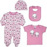 Kit 4 Peças Bebê, TipTop, Rosa, P
