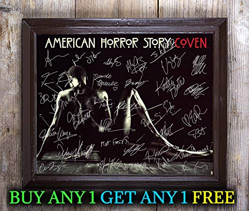 Cast A 8x10 Photo - American Horror Story Tv Show Cast Autographed Signed 8x10 Photo Reprint #47 Special Unique Gifts Ideas Him Her Best Friends Birthday Christmas Xmas Valentines Anniversary Fathers Mothers Day