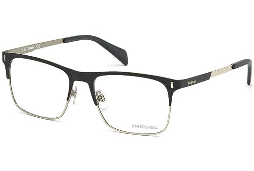 cb203c27b6 Amazon.com  DIESEL Eyeglasses DL5151 002 Matte Black 54MM  Clothing