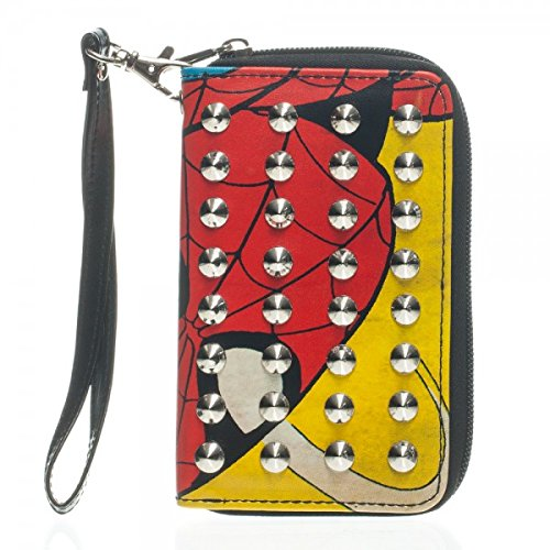 Bioworld Spiderman Comic Stud Zip Wallet