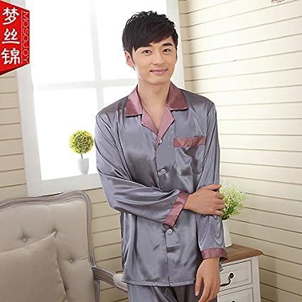 Wanglele Parejas Parejas Pijama Pijama Lindo Modelos Fina Seda, Hombres Y Mujeres, Masculino,