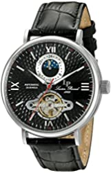 Lucien Piccard Watches Babylon Automatic Leather Band Watch