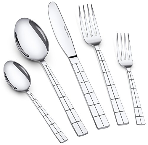Utopia Kitchen 20 Piece Flatware Set Silverware Set Stainles