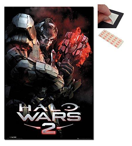 Bundle - 2 Items - Halo 2 Wars Atriox Poster - 91.5 x 61cms