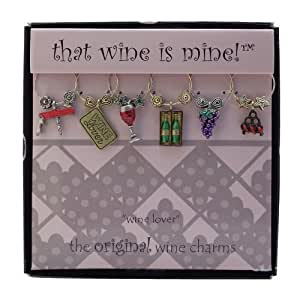Wine Things WT-1426P Wine Lover Wine Charms, Painted
