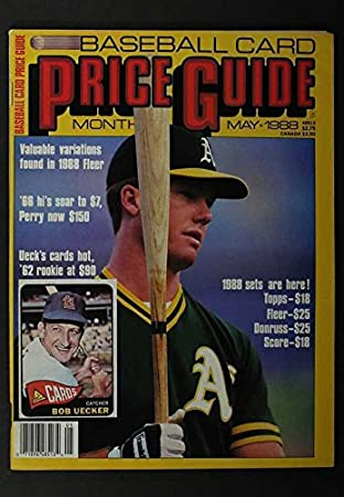 May 1988 Baseball Card Price Guide Bob Uecker Mark Mcgwire Cover