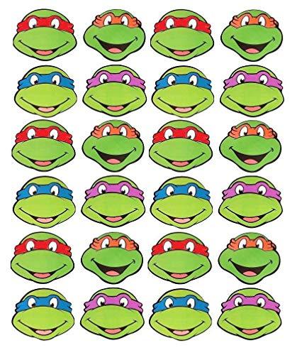 Teenage Mutant Ninja Turtles Donatello Michaelangelo Leonardo Raphael Edible Cupcake Toppers ABPID03835]()