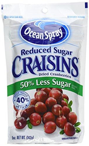 Ocean Spray Reduced Sugar Craisins Dried Cranberries 5 Oz (2 Packs)