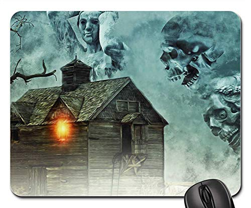Mouse Pad - Haunted House House Haunted Halloween