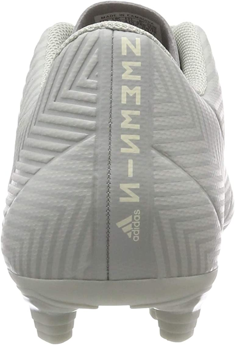 adidas Men's Nemeziz 18.4 FxG Footbal Shoes Grey Ash Silver F18 Ash Silver F18 White Tint S18