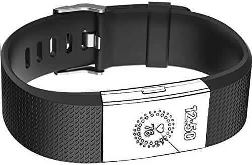 Band for Fitbit Charge 2 Heart Rate, Replacement Fitness Accessory Wristband