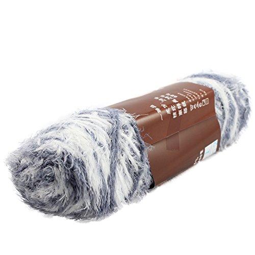 Fluffy Eyelash Feather Knitting Yarn 100g ,Grey&White