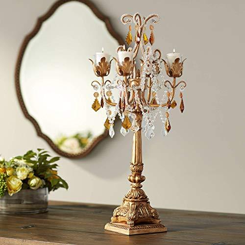 "Kensington Hill French Taper 29"" H Droplets Taper Candelabra Candle Holder"
