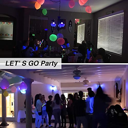 Onforu UV LED Black Lights Bulb, 7W A19 E26 Bulb, UVA Level 385-400nm, Glow in The Dark for Blacklight Party, Body Paint, Fluorescent Poster, Neon Glow (2 Pack) by Onforu (Image #7)