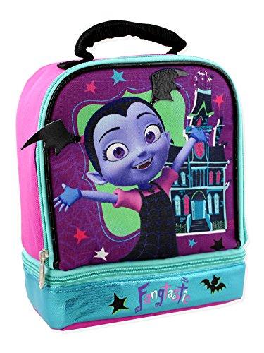 Vampirina Girl's Dual Compartment Insulated Soft Lunch Box (Purple/Multi) by Disney
