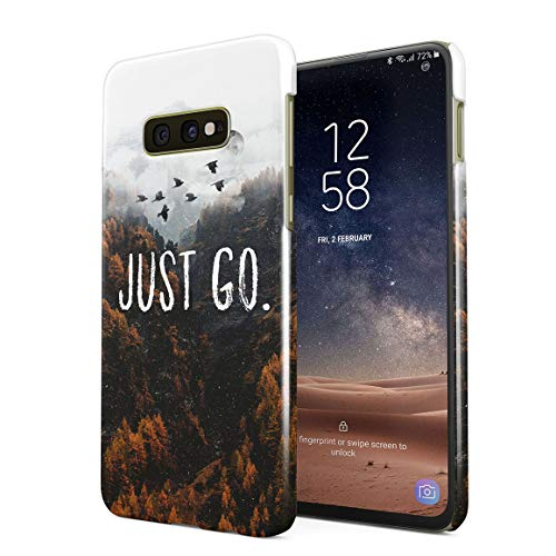 Just Go Autumn Yellow Forest Traveling Exploration Adventures Protective Hard Plastic Snap-On Phone Case Cover for Samsung Galaxy S10e