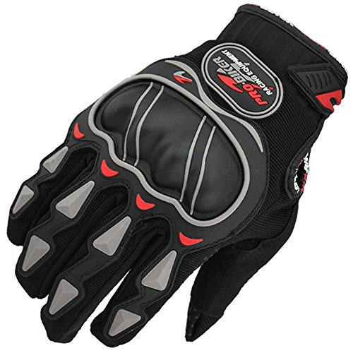 MolGym Motorcycle Riding Hard Knuckle Mesh & Leather Gloves Bike Bicycle Motobike Motorcycle Full Finger
