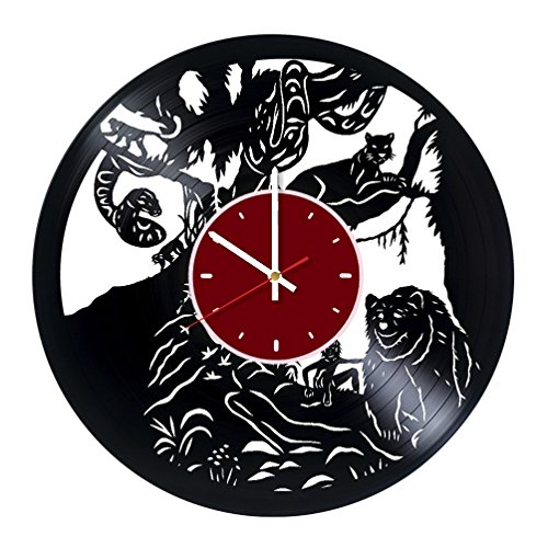 The Jungle Book Rudyard Kipling Vinyl Wall Clock Living Room Home Decor
