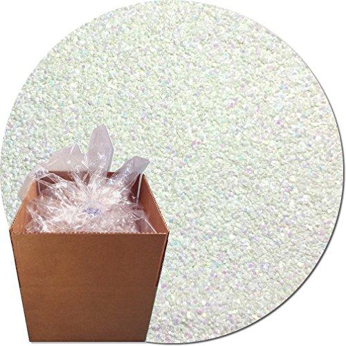 Glitter My World! Craft Glitter: 25lb Box: Snow White Iridescent by Glitter My World!