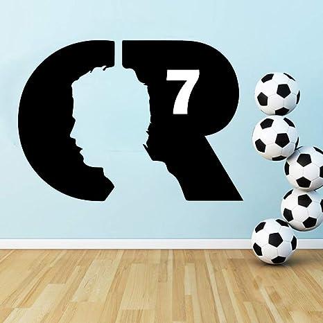 Calcomanía de vinilo Jugador de pelota de pies CR7 Etiqueta de la ...