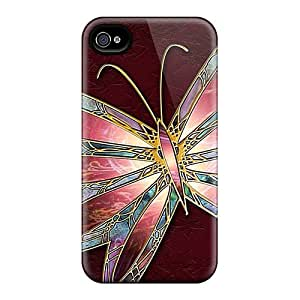 New Style Hernandezz Shiny Butterfly Premium Tpu Cover Case For Iphone 4/4s