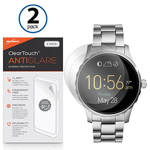 fossil-q-marshal-screen-protector-boxwave-cleartouch-anti-glare-2-pack-anti-fingerprint-matte-film-s