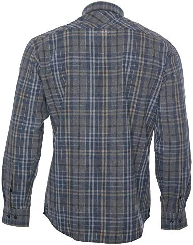 ROCK-IT Apparel® Camisa de Franela de Manga Larga para Hombres Camisa de leñador a Cuadros Fabricada en Europa Diversos Colores S-5XL: Amazon.es: Ropa y accesorios