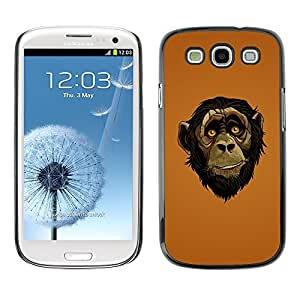 GagaDesign Phone Accessories: Hard Case Cover for Samsung Galaxy S3 - Friendly Ape Monkey Chimpanzee