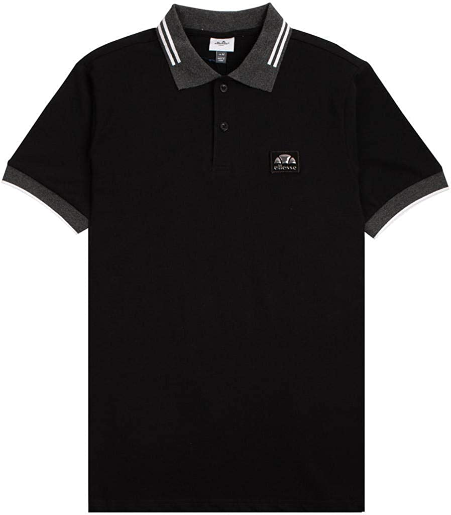 Ellesse Attardo Polo Shirt Black M: Amazon.es: Ropa y accesorios