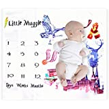 Angmart Baby First Year Milestone Blanket Painting Harry Potter Muggle Photography Backdrop Photo Prop Newborn Boys Girls Infant Baby Shower Gift for New Mom