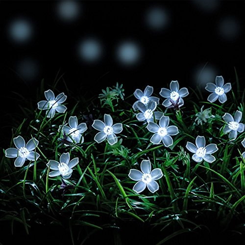 Solar-String-lights-LOENDE-23FT-50-LED-8-Mode-Waterproof-Flower-String-Lights-Garden-Solar-Lights-for-Party-Patio-Garden-Bedroom-Garden-Tree-Wreath-Holiday-Wedding-Decorations-White