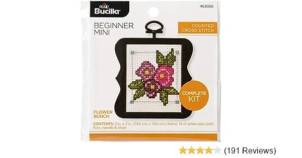 Flowers Bucilla 46308E My First Cross Stitch Kit 3 3