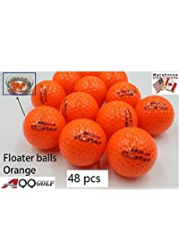 50pcs A99 Floater bolas color naranja con el logotipo de Golf bolas flotantes