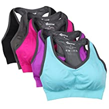 BAOMOSI Women's Seamless High Impact Support Racerback Workout Yoga Sports Bra