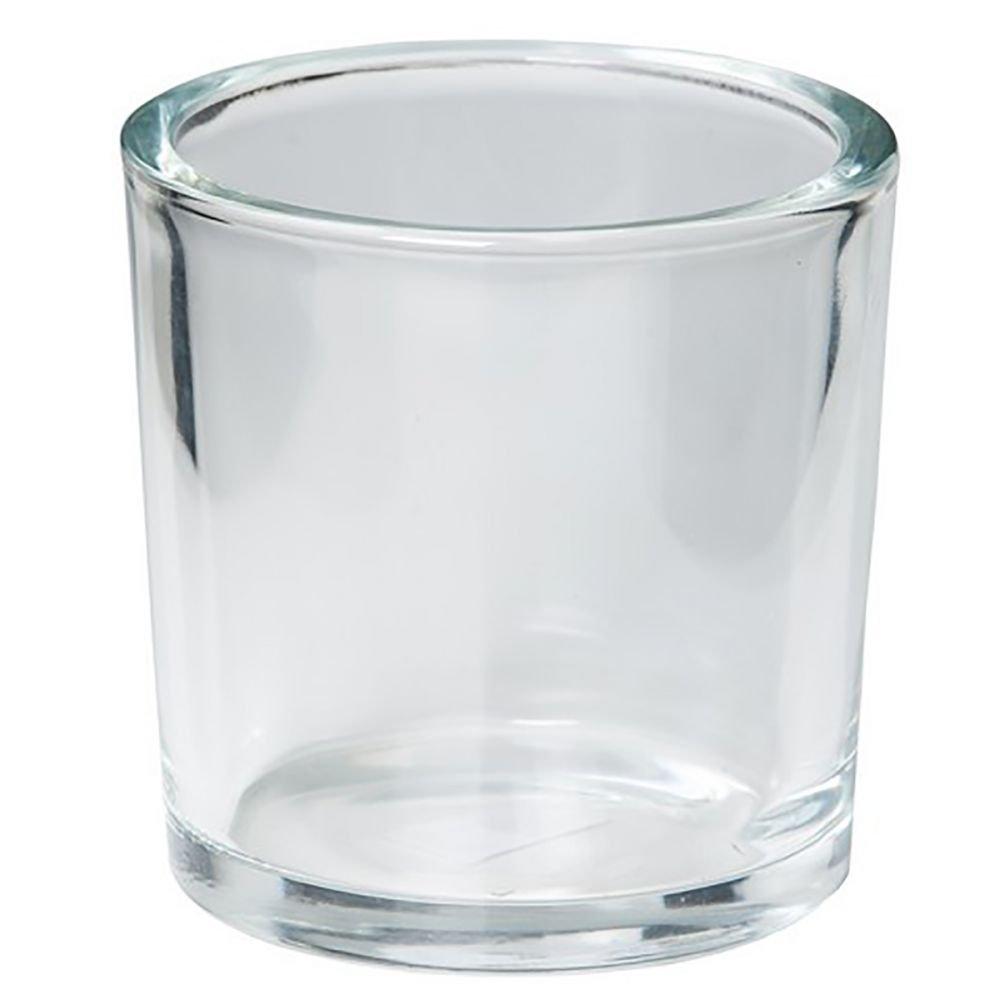 Annastore 6 x XL Windlichter aus Glas in Schwerer Glasqualit/ät H 14 cm /Ø 14 cm Glaszylinder Zylinder Zylinderglas