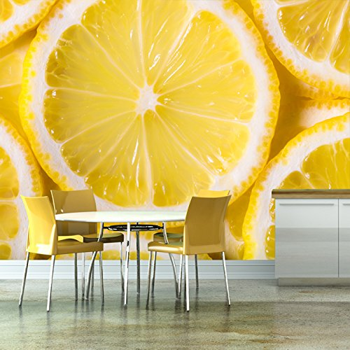 Lemon Slice Wall Mural Food & Drink Photo Wallpaper Kitchen Cafe Home Decor available in 8 Sizes Gigantic Digital Children Height Food Bar