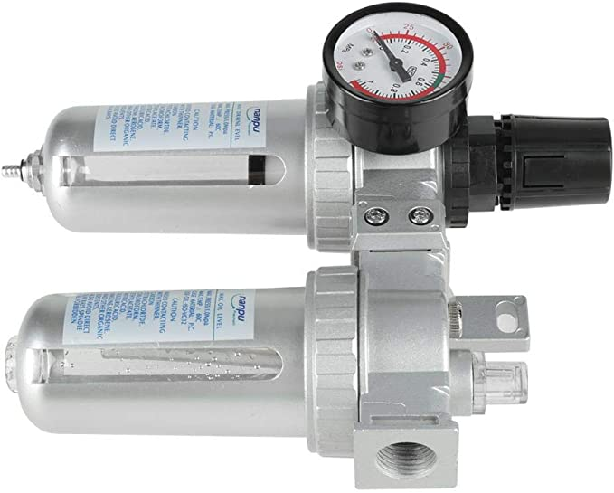 "G1//2/"" Air Compressor Filter Oil Water Separator Trap Tools W//Regulator Gauge"