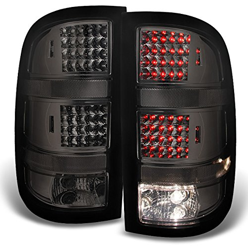 2007 2008 2009 2010 2011 2012 2013 GMC Sierra Fleetside Smoked LED Tail Lights Replacement Pair (Gmc Sierra Fleetside Led Tail)