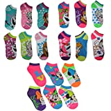 Disney Frozen & Minnie Mouse Gift Little Girl Socks Size 4-6 Multi-Pack-18 Pairs