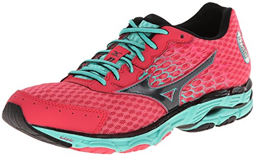 Mizuno Women's Wave Inspire 11 Running Shoe,Rouge Red/Black,